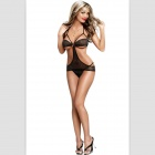 Women's Sexy Lace Lingerie Underwear Set - Black (Free)