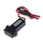 Car Modification Parts 2.1A USB Voltmeter for MITSUBTSHI - Black