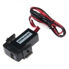 Car Modification Parts 2.1A USB Interface Voltmeter for NISSAN - Black