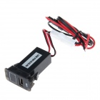 Car Modification Parts 2.1A USB Interface Voltmeter for SUZUKI - Black