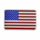 American Flag Style Aluminum Alloy Car Body Sticker / Decal - Red + Blue + White