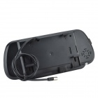 "7"" LCD Touch Sliver Radar Rearview Camera Parking System - Black"