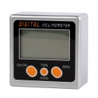 "I Typ Mini 1.8 ""LCD-360 Digitaler Neigungsmesser - Silber + Schwarz + Orange (1 x 9V)"