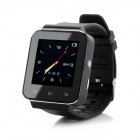 "1.55"" TFT PU Band Smart Android 3.2.1 Watch w/ Bluetooth 4.0 / Message Display - Black + Silver"