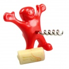 Happy Man Design Novel Great Gift Wine Bottle Opener - Red
