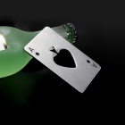 Novel Spades A Playing Card Design Bottle Opener - Silver