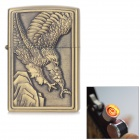 Flying Eagle Pattern Windproof USB Electronic Cigarette Lighter w/ Toothed Rotary Switch - Bronze