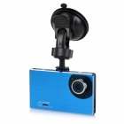 "9mm Ultra-thin 2.7"" 1080P Full HD CMOS 120' Wide-Angle LED Night Vision Car DVR Camcorder - Blue"