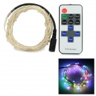 DC Connector 6W LED String Light Colorful Light 40lm 0603 w/ RF Dimmer + Remote Control (12V / 10m)
