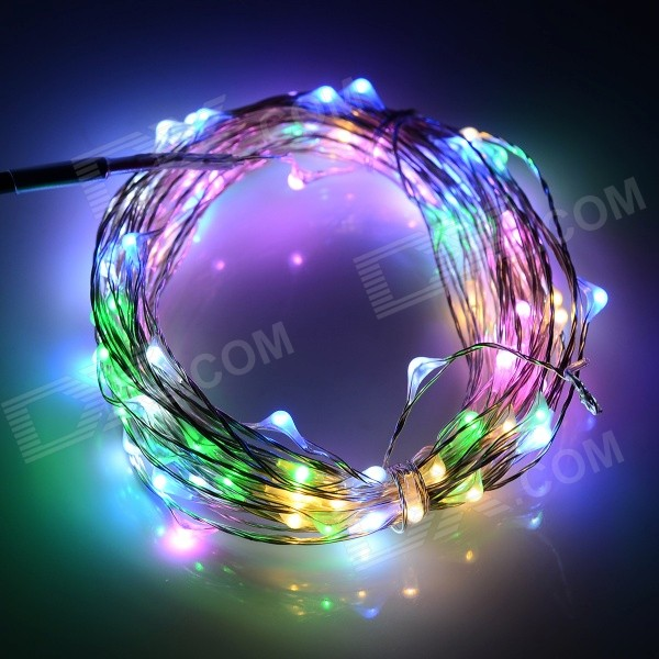 6W RGB String Light w/ Dimmer + Remote Control (10m) - Free Shipping - DealExtreme