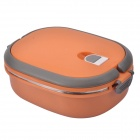 NEJE CZ0001-1 Stainless Steel Insulated Bento Box Lunchbox w/ Handle - Orange