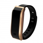 "0.91"" TW07 Bluetooth 4.0 Waterproof Smart Bracelet w/ Call Reminder, Sleep Monitoring - Gold + Black"