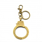 Creative Single Handcuff Style Key Ring Keychain - Bronze
