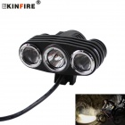 KINFIRE X30 1500lm 3-LED Cold White 3-Mode Bike Light Headlamp