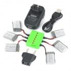WSX-X6A 6 x 300mAh batteries + 1 to 6 Balance Charger + TOL Adapter + Power Adapter + Data Cable Kit