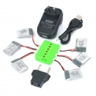 WSX-X6A 6 x 3.7V 240mAh Li-polymer Batteries + 1-to-6 Charger + TOL Adapter + Data Cable Set