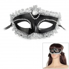 Halloween / Makeup Party / Masquerade Ball Handmade Face Mask - Black + Silver