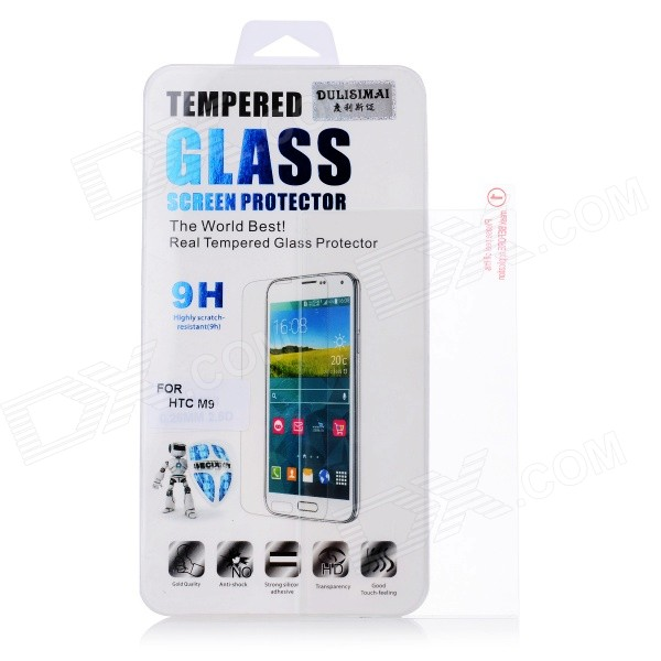 Explosion-proof Glass Screen Protector for HTC M9 - Transparent