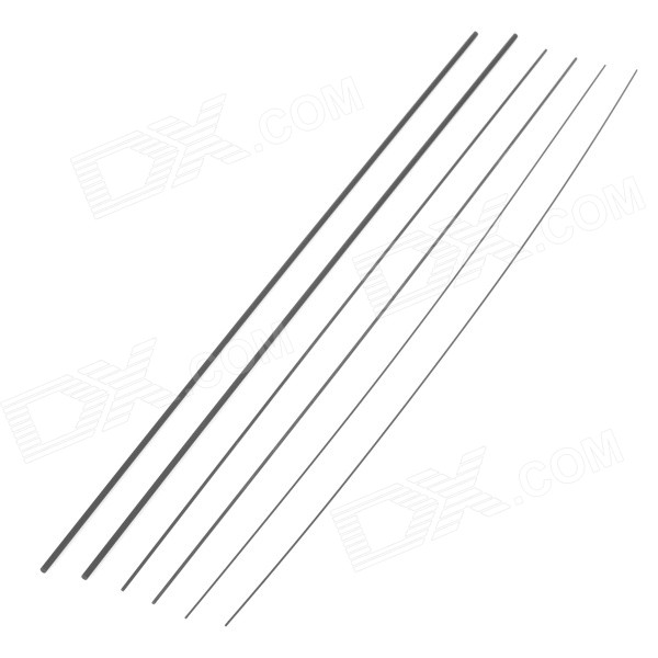 DIY Carbon Fiber Rod voor Aircraft Model - Zwart (6PCS)