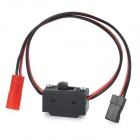 DIY JR-in JST-out Switch Cable for R/C Helicopter - Black + Red