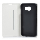 Dulisimai PU Case w/ Stand, Card Slots for Samsung S6 - White + Black