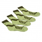 NatureHike Quick-Dry Outdoor Sports Socks - Army Green (2 Pairs)