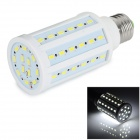E27 12W 5730 SMD 60-LED Corn Lamp Bulb White Light 6500K 1300lm - White (AC 220~240V)