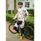 MOON CX-001 hommes cyclisme jersey + pantalon ensemble - multicolore (xl)