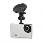"9mm Ultra-Thin 2.7"" 1080P Full HD CMOS 120' Wide-Angle LED Night Vision Car DVR Camcorder - Silver"