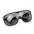 VZ002 UV400 Protection PC Sunglasses - Black + Grey