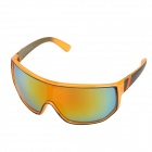 VZ002 Outdoor Fashionable Cool UV400 Protection PC Sunglasses - Black + Orange + Red REVO