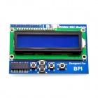 RGB 1602 LCD Keypad Shield LCD Display Module Blue Screen with I2C for Banana Pi