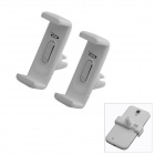OUMILY 360' Rotation Car Air Conditioning Outlet Anti-Slip Holder for Cellphone - White (2 PCS)