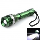 Outdoor Rechargeable 200lm XP-E Q5 LED 3-Mode Cool White Zooming Flashlight - Army Green (1 x 18650)