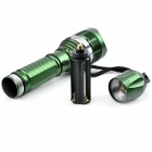 Al aire libre recargable 200lm xp-e Q5 LED 3-Mode linterna de zoom blanco