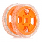 DIY Rubber Tyres for R/C Car - Orange + Transparent (2 PCS)