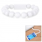 Magnetic Wearable Bracelet Style Micro 5-Pin Charging Data Cable for Samsung, HTC & More - White