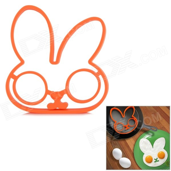 Cute Rabbit Style FDA Silikoni Munakas Mould - Orange