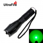 UltraFire A100 LED 100lm 5-Mode Green Light Zooming Flashlight Camping Torch - Black
