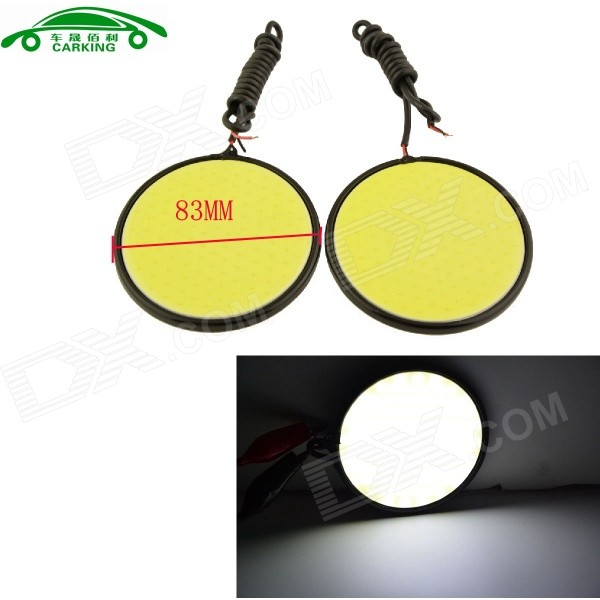 CARKING 7W COB 6000K 650lm White Daytime Running Lamp (12V / 2PCS)