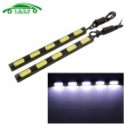 Carking 20W DRL Driving Daytime Running Light Lamp 6000K 720lm White 5-COB LED Waterproof (2PCS)