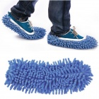 Dust Cleaner Cleaning Mop Cleaner Slipper Shoes Covers- Blue (Pair)