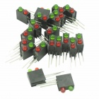DIY LED Power Indicator Light for Lamp Holder Base - Red + Green + Black (20pcs)