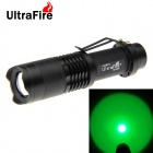 UltraFire 180lm XP-E Green Light 5-mode Zoomable LED Flashlight - Black