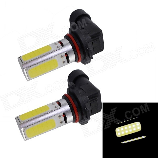 COB10W-H8241/W H11 10W 12V 900lm 4-LED 2-Mode White Car Bulbs (2PCS)