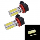 COB10W-H11242/W H8 10W 4-LED Front Fog Light Bulbs 900lm 5555K 2-Mode White Light (2 PCS / 12V)