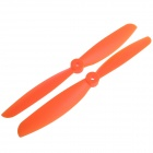 9045 Nylon CW & CCW Rekvisiitta potkurit Terät Aircraft - Orange (Pair)