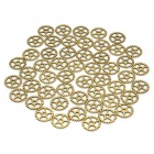 MOXO C6445 Retro DIY 15mm Small-Size Gears for Mechanical Clocks & Watches - Bronze (50pcs)