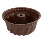 "8.6"" Kitchen Silicone Bundt Cake Pan Mold - Chocolate"