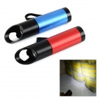 9-LED White Light Flashlight w/ Bottle Opener (3 x AAA / Red + Blue 2 PCS)